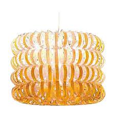 vistosi ecos four ring pendant light in orange by renato toso and noti massari for at 1stdibs