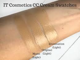 It Cosmetics Cc Cream Light Review It Cosmetics Matte Cc Cream Review It Cosmetics Cc Cream