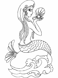 Small Picture Mermaid Color Page Perfect With Picture Of Mermaid Color 87 6978