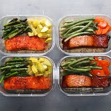 Weekly Lunch Prep Salmon Meal Prep For Two Recipe By Tasty