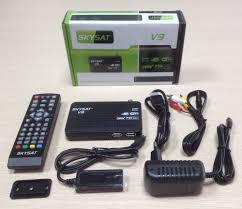 TV BOX Digital Satellite Receiver Android SKYSAT V9 1080P Full HD DVB S2  MPEG4 Smart TV Box Media Player Android Set Top Box HD dvb-s2 mpeg4 hd  dvb-s2digital satellite - AliExpress