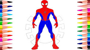 10 wonderful spider man coloring pages your toddler will love : Painting Spiderman Coloring Pages For Kids How To Color Spiderman In Coloring Book Youtube