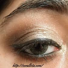 chocolate gold party eye makeup step by step photo tutorial
