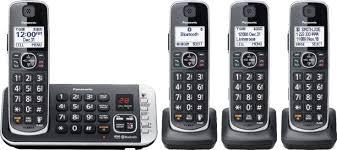 panasonic kx tge674b dect 6 0 expandable cordless phone system with digital answering system black kx tge674b best