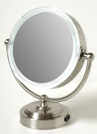 lighted makeup mirror 10x magnifying wall mounted with lights