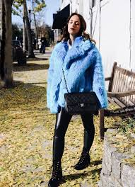 faux fur coat street style fashion new york 2017 winter