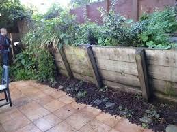 wood retaining wall fail