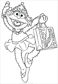 Sesame Street Coloring Page Free E Sesame Street Ng Pages On E