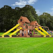Backyard Odyssey Safari Cedar Swingset