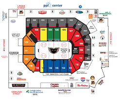 Ppl Center Allentown Pa Seating Chart Concourse Map Ppl Center