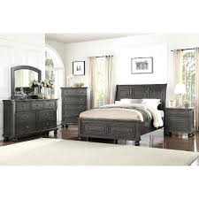 King Size Set Classic Traditional Gray 4 Piece King Bedroom Set King ...