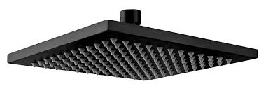 200mm shower head square 304ss showerhead electroplated matte black finish now