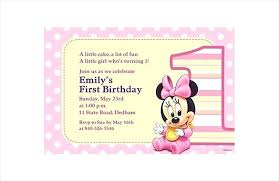 Free Minnie Mouse Birthday Invitations Customized Minnie Mouse Birthday Invitations Invitation
