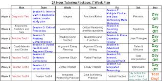 gmat sample tutoring plan next step test preparation gmat 24 hr study plan