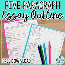 five paragraph essay outline by the daring english teacher tpt  five paragraph essay outline