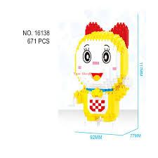 Có sẵn) Xếp hình lego nanoblock doremon nobita seko suka chaien doremi lắp  ráp nano block cho bé chính hãng BALODY giá cạnh tranh