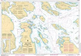 Chs Nautical Chart Chs3441 Haro Strait Boundary Pass And Et Satellite Channel