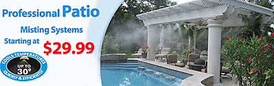 Patio Misting Systems  Patio Cool Kit  DoItYourself Misting Backyard Misting Systems