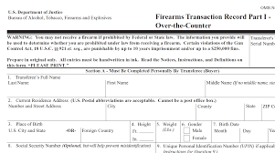 gun background check form. Perfect Form Inside Gun Background Check Form M