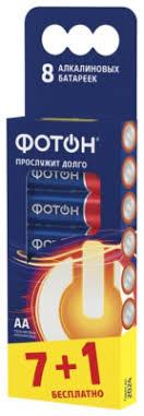Батарейка щелочная AA LR06 8 шт <b>ФОТОН</b>