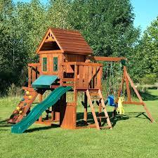 wooden playset costco backyard wooden wood complete swing set wooden outdoor kidkraft hometown heroes wooden playset
