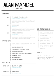 Sample Theatre Resumes Special Skills For Theatre Resume Elegant Musical Template Word