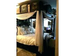 Tufted Canopy Bed Mirrored Canopy Bed Vintage Platform Mirrored ...