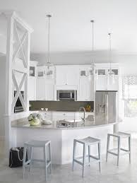 Gray And White Contemporary Kitchen With Unique Details
