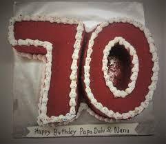 70th Birthday Cake Cakeman