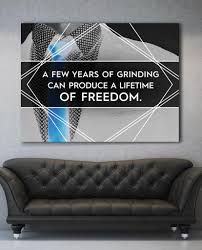 pictures to hang in office. A Few Years Of Grinding Blue Motivational Inspirational Office Canvas Wall Art (Wooden Frame Ready To Hang) Pictures Hang In W
