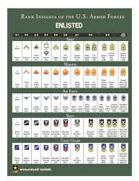 Military Insignia Chart Understand Ranks And Insignia Across Us Military Branches