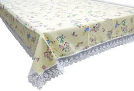 Beatrix Pottery Peter Rabbit Lace Tablecloth 170x110cm Country Style Rose  Yellow
