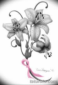 черно белый эскиз тату лилия 09032019 056 Tattoo Sketch