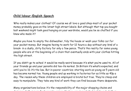 english oral speech against child labour a level psychology document image preview