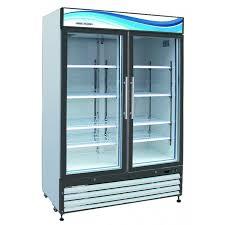 gr 48 2 door glass refrigerator