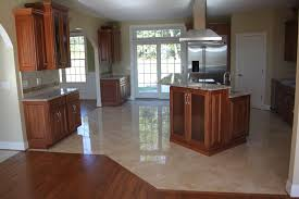 Cream Floor Tiles For Kitchen Tile For Kitchens I Like The Transition From Wood To Tile We Can