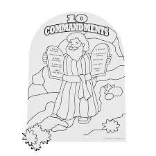 Ten Commandments Coloring Pages With Medquit 28 Collection Of Free