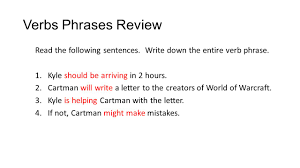 verbs verbs review answers answer the following as best you 5 verbs