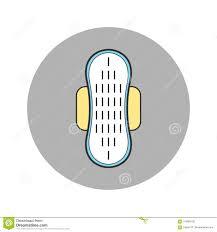 Pad Website Design Pad Feminine Hygiene Monthly Flat Icon For Design Stock