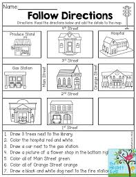 Free Following Directions Worksheets for Elementary Students ...