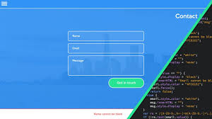 Contact Form Website Design Web Design Speed Art Speed Code Contact Form With Javascript Validation