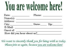 Welcome Card Templates Visitor Card Template You Can Customize