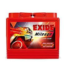 Exide Automotive Battery Application Chart Exide Mileage Car Battery Din55 55ah Amazon In Car Motorbike