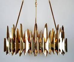 contemporary chandelier brass steel acrylic