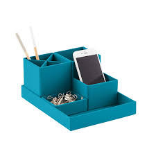 Bigso Turquoise Stockholm Desktop Organizer ...