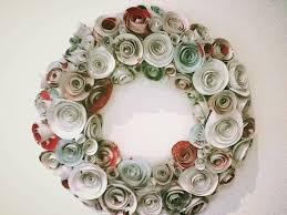 diy wreath paper roses