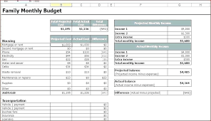 Budget Monthly Expenses Spreadsheet Household Expense Tracking Template