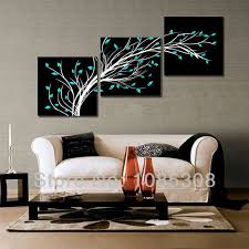 modern black white. 100 HandPainted 4 Season Black White Flower Tree Oil Painting On Canvas Home Wall Art Modern H