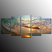 kuyiart 5 panels canvas print art prints on canvas framed and stretched prints on cheap canvas wall art amazon with amazon kuyiart 5 panels canvas print art prints on canvas