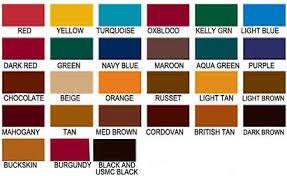Fiebings Suede Dye Color Chart Accessories